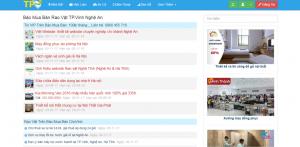 Trang website rao vặt tpvinh.vn